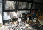 Daves Shed Fire - The devistation