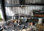 Daves Shed Fire - Closer look